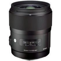 Sigma Lente 35mm F/1.4 Dg Hsm Art Para Nikon