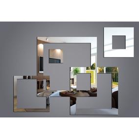 Kit Espelho Decorativo Quadrados Acrilic Grande Frete Grátis