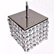 Lustre Cristal Legitimos K9 Aço Inox E Brinde Lâmpada