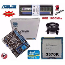 Kit Core I5 3570k 3.8ghz Turbo + Asus H61m-k + 8gb 1600mhz