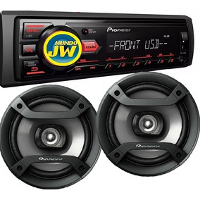 Stereo Pioneer 85 / 085 Usb Aux + Parlantes Pioneer 6 1634