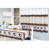Jogo Cozinha C/cortina+toalha Mesa 6 Cadeiras 8 P.oxford C/2