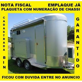 Plaqueta Documentar Modelos 1 E 2 Eixos Food Truck Treylher