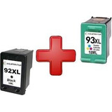 Combo Impresora Cartucho 92xl Negro + 93xl Color Alternativo