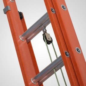Escada Extensível 6 Mt Fibra E Aluminio Net E Eletricista