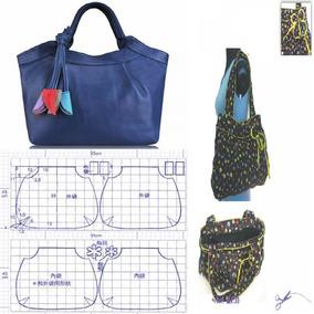 Patrones Confecciones Moldes Diseños Bolsas Carteras + Ideas
