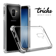 Funda Transparente Resistente Antishock Galaxy A8 Plus 2018