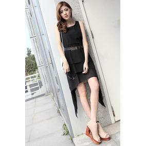 V1025 Vestido Negro Strapless - Somos It Girls