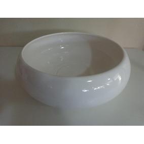 Vaso Centro De Mesa Branco 30 Cm Cerâmica Esmaltada