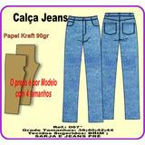 Molde Calça Jeans 067