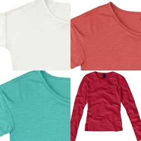 Kit 3 Camiseta Feminina Manga Comprida Leve Folha (hering)