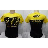 Camiseta Valentino Rossi, Vr46, Motogp Velocidade,46