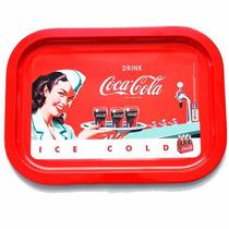 Bandeja Metálica Coca Cola Ppr Vintage Retro Casa Valente