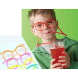 Canudo Divertido Óculos Cor: Incolor/ Transparente