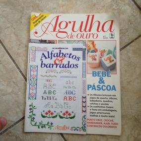 Livro Agulha De Ouro N7 Bebê & Páscoa Ponto Cruz Alfabetos
