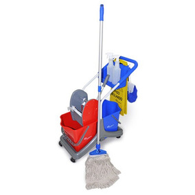 Kit Limpeza Balde Espremedor Placa Mop