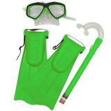 Kit Snorkel C/ Máscara E Nadadeiras Coloridas - Bel Fix