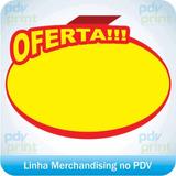 Cartaz Splash De Oferta Redondo - 10x15cm - 1.000 Unidades