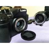 Lumix Panasonic Gh4 Y Lente Sigma 18-35 Con Speed Booster