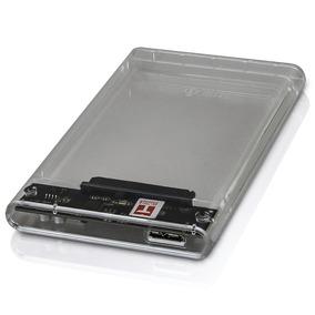 Case Hd Externo Notebook Gaveta 2,5 Sata Usb 3.0 Transparent