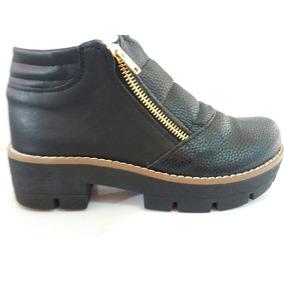 Botas Zapatos De Mujer Con Doble Cierre