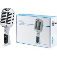 Micrófono Vintage Vocal Dinámico Stagg Sdmp40cr En 18 Cuotas