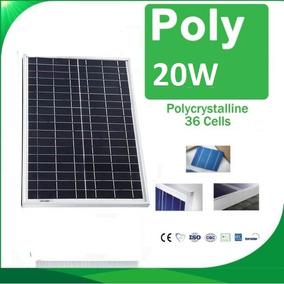 Painel Fotovoltaico Policristal 20w 12v Célula Placa Solar