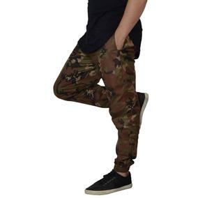 Calça Masculina Jogger Camuflado Swag Skinny