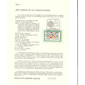 Hoja Primer Día Año Mundial De Las Comunicaciones 1983