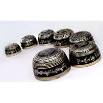 Set De 7 Cuencos * Thamelmart * 7 Metales Afinados A Chakras