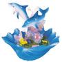 Stealstreet Vida Marina Delfín Con El Seashell Diseño Figur