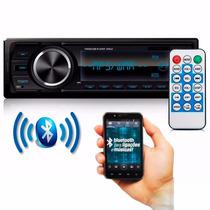 Auto Rádio Mp3 Player Fm Usb Sd Aux Bluetooth Com Controle