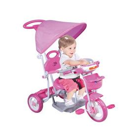 Triciclo Infantil Reforzado Con Capota Y Barral - Astros