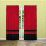 Cortina Combinada Rojo Negro Roja Negra
