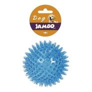 Brinquedo De Cachorro Bola Espinho Com Som Azul Grande Jambo