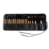 Set 24 Bochas Pelo Camello Make Up Brush + Estuche