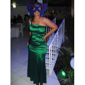 Vestido De Festa Tamanho 44 , Tafetá Com Elastano