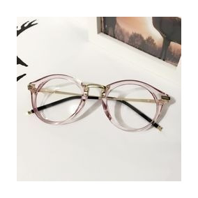 f53fbea97d7eb Óculos Armação Acetato Rose Feminino Redondo Metal + Brinde