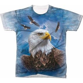 Camisa Camiseta Blusa 3d Águia Eagle Usa Estados Unidos 11
