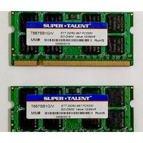 Memoria Ram Laptop 1g Ddr2 667 Pc 5300 (precio Por El Par)