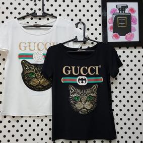 T-shirt Gato Gucci Inspired (bordada)