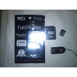 Memoria Micro Sd 16 Gb Sandisk Con Lector Y Adaptador