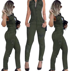 Macacão Jeans Z Z 800 Verde Pronta Entrega
