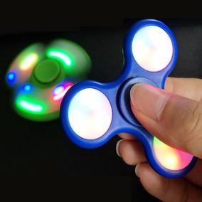 Fidget Spinner Led Luz Luces Colores Reduce Estrés Ansiedad