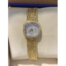 Reloj Carrera Y Carrera Oro 18k,carátula De Diamantes,47.1g