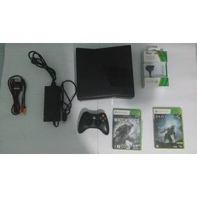 Xbox 360 4g Travado + 2 Jogos Original + Carregador