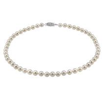 Collar Con Perlas Cultivadas Akoya Blanca Japonesa 7.0-7.5mm