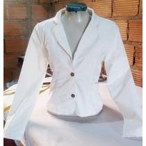Blazer Branco Feminino Otima Qualidade Tamanho 42 M Barato