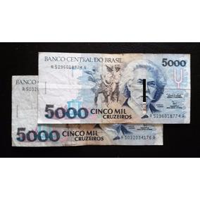 Lote De 8 Billetes Brasil 5.000-10.000-50.000 Cruzeiros