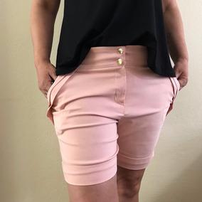 Short Alfaiataria Roupas Femininas Plus Size Liquidacao 2018